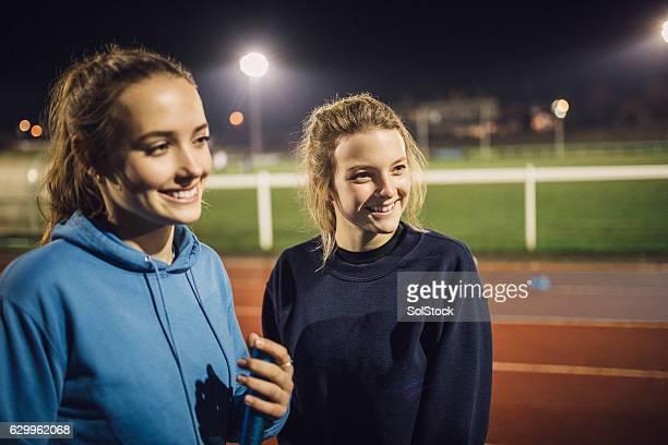 Socialising on the Running Track