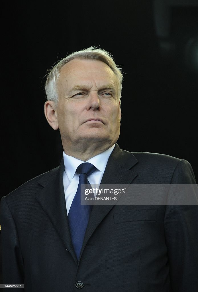 Socialist deputy and mayor of Nantes Jean Marc Ayrault attends the Memorial Day for the Abolition of Slavery on May 10, 2012 in Nantes, France.