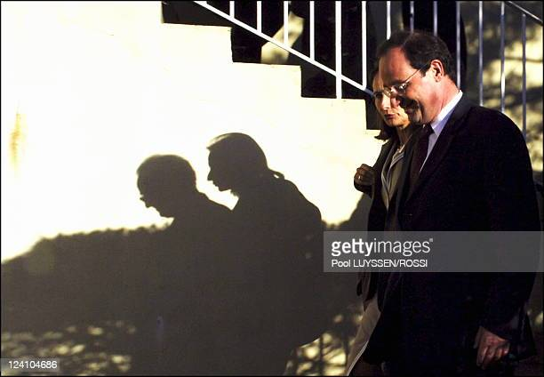 Socialist Party's congress In Le Mans France On November 18 2005 Segolene Royal and Francois Hollande