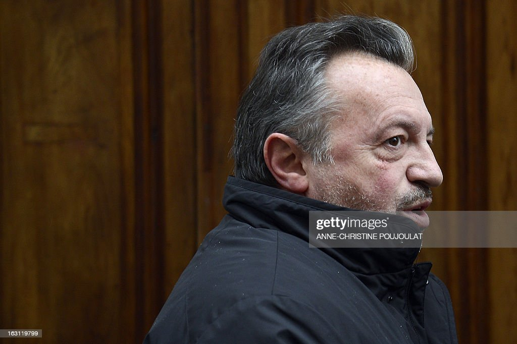 Socialist President of the General Council of the French region Bouches-du-Rhone, Jean-Noel Guerini arrives on March 5, 2013 to Marseille's courthouse, prior to a hearing as part of investigations in a case of alleged unfair dismissal of a former member of Guerini's office. Jean-David Ciot, former member of Guerini's office at the General Council, was elected member of the Parliament in 2012 and is current First Secretary of the Socialist Party (PS) federation of the Bouches-du-Rhone.