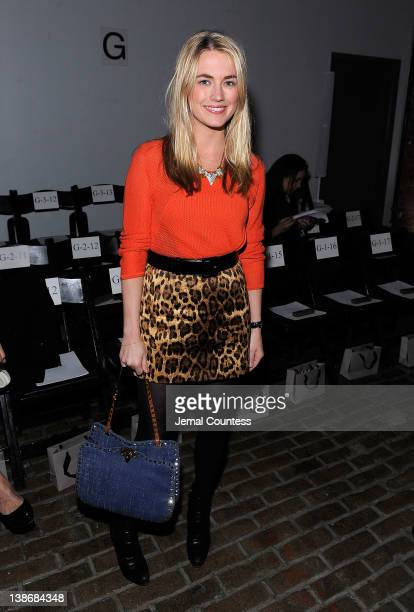 Socialite Amanda Hearst attends the Yigal Azrouel Fall 2012 fashion show during MercedesBenz Fashion Week at Highline Stages on February 10 2012 in...
