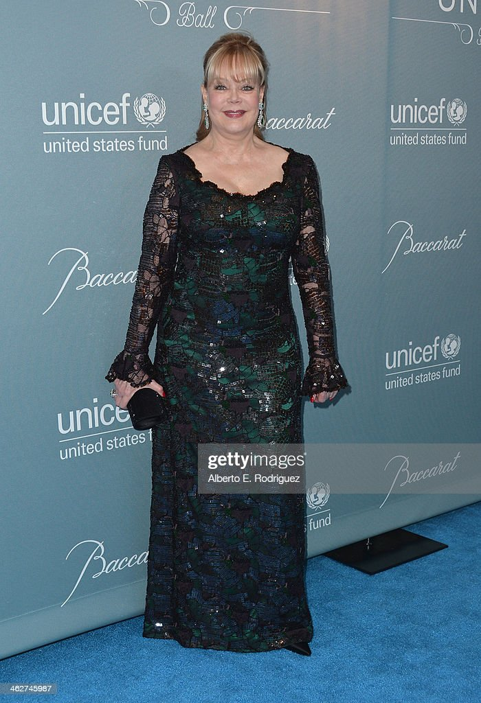 Socialite <a gi-track='captionPersonalityLinkClicked' href=/galleries/search?phrase=Candy+Spelling&family=editorial&specificpeople=235768 ng-click='$event.stopPropagation()'>Candy Spelling</a> arrives to the 2014 UNICEF Ball Presented by Baccarat at the Regent Beverly Wilshire Hotel on January 14, 2014 in Beverly Hills, California.