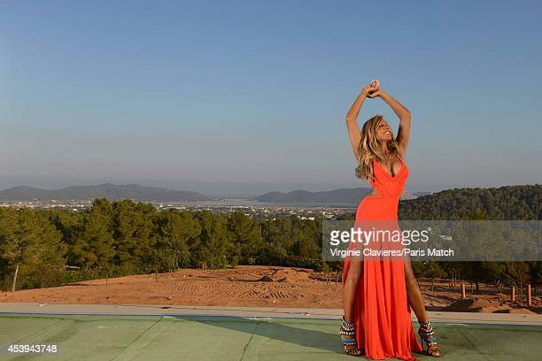 Socialite Cathy Guetta is photographed for Paris Match on August 12 2014 in Ibiza Spain