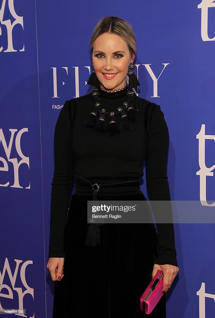 Socialite Elizabeth Kurpis attends the Two Ten Footwear Foundation Dinner And Awards on December 1 2015 in New York City