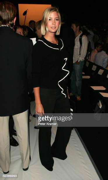 Socialite Ivanka Trump poses in the front row at the Oscar De La Renta Spring 2006 fashion show during Olympus Fashion Week at Bryant Park September...