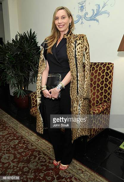 Socialite Jacqui Getty attends the W Magazine celebration of The 'Best Performances' Portfolio and The Golden Globes with Cadillac and Dom Perignon...