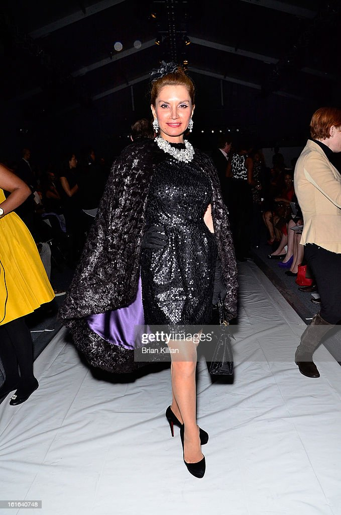 Socialite Jean Shafiroff attends B Michael America during Fall 2013 Mercedes-Benz Fashion Week at The Studio at Lincoln Center on February 13, 2013 in New York City.