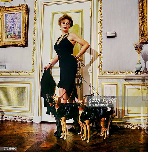 Socialite Jocelyn Wildenstein is photographed for Vanity Fair Magazine on January 11 1998 at home in New York City PUBLISHED IMAGE PUBLISHED IN...