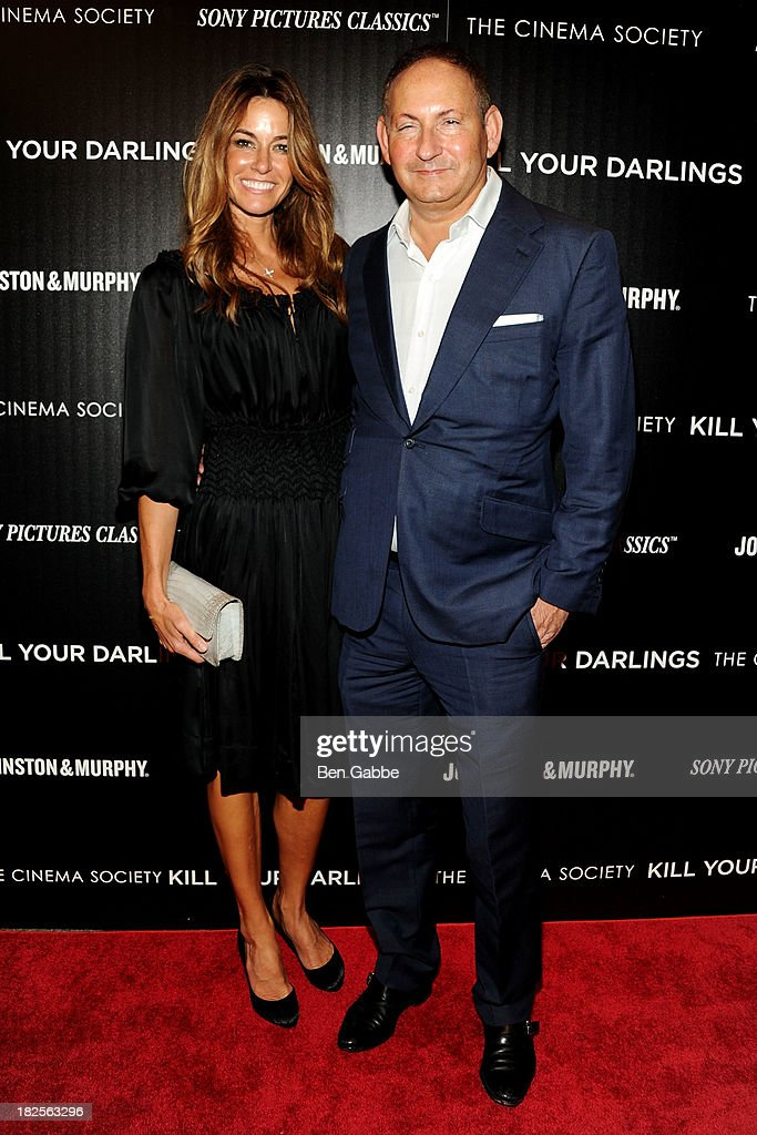 Socialite Kelly Killoren Bensimon (L) and John Dempsey attend The Cinema Society and Johnston & Murphy host a screening of Sony Pictures Classics' 'Kill Your Darlings' at the Paris Theatre on September 30, 2013 in New York City.