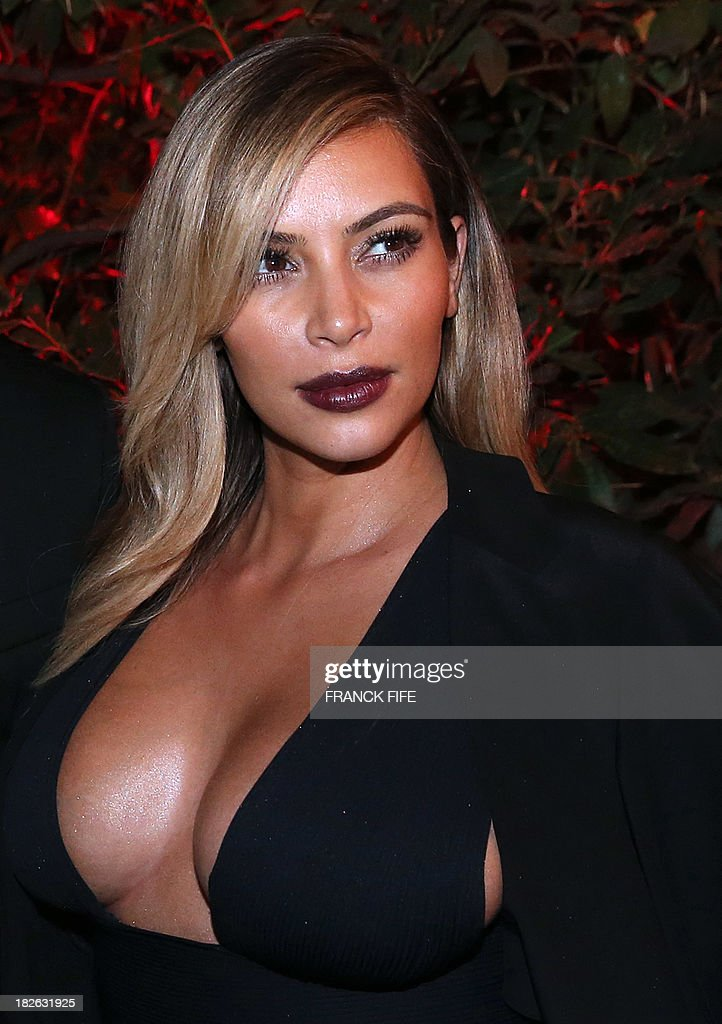 US socialite Kim Kardashian attends the 'Mademoiselle C' cocktail party at the Pavillon Ledoyen on October 1 2013 in Paris AFP PHOTO / FRANCK FIFE