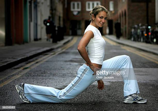 Socialite Lady Isabella Hervey officially launches her Decemberreleased fitness DVD 'Isabella's Power Workout' at KX GYM UK on January 10 2006 in...