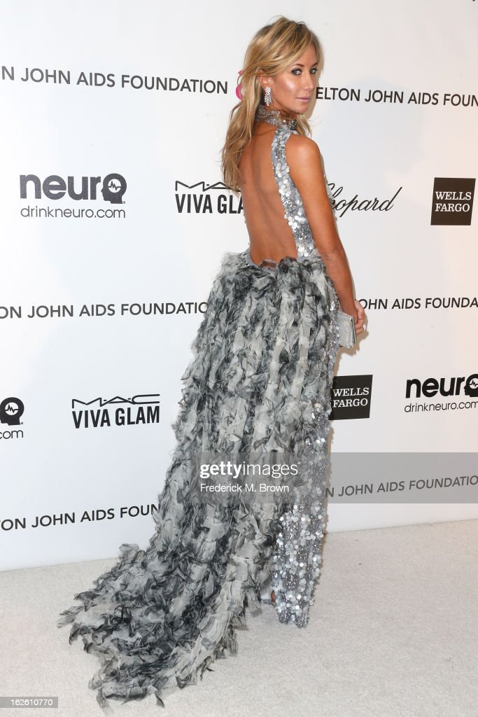 Socialite Lady Victoria Harvey arrives at the 21st Annual Elton John AIDS Foundation's Oscar Viewing Party on February 24, 2013 in Los Angeles, California.