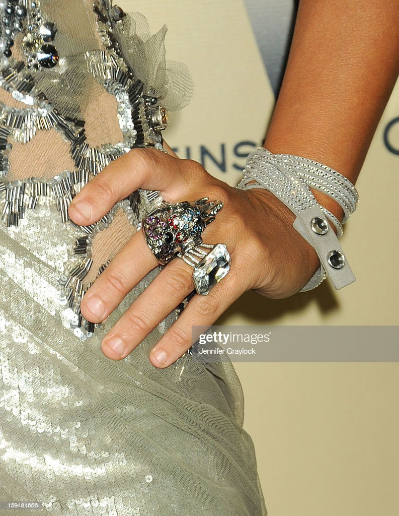 Socialite Lady Victoria Hervey (jewellery detail) attends The Weinstein Company's 2013 Golden Globes After Party held at The Old Trader Vic's in The Beverly Hilton Hotel on January 13, 2013 in Beverly Hills, California.