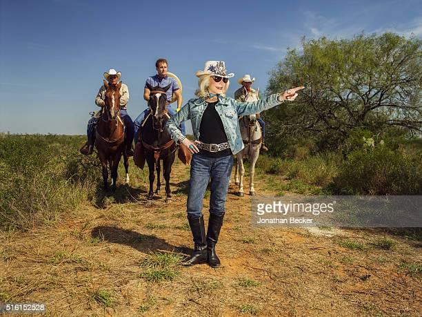 Socialite Lynn Wyatt is photographed for Vanity Fair Magazine at her ranch Tasajillo in Duval County Texas