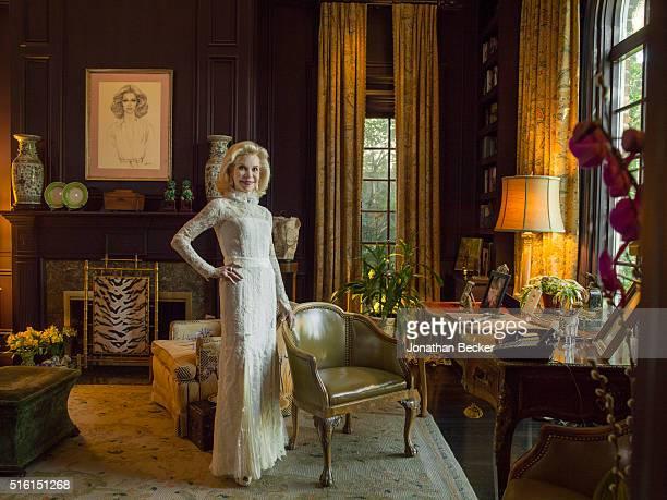 Socialite Lynn Wyatt is photographed for Vanity Fair Magazine on October 2 2015 in Houston Texas