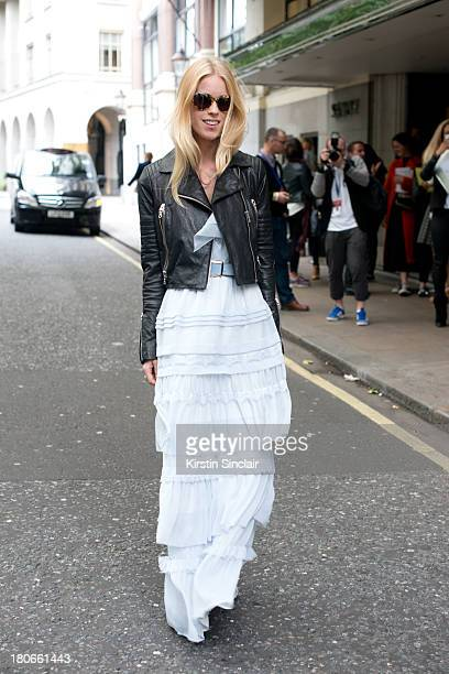 Socialite Mary Charteris wears a Temperley dress on day 3 of London Fashion Week Spring/Summer 2013 on September 15 2013 in London England
