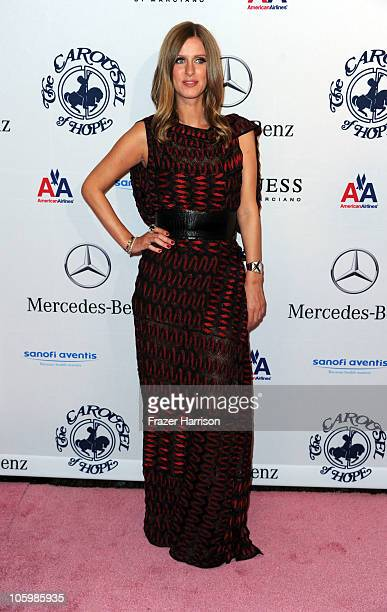 Socialite Nicky Hilton arrives at the 32nd Anniversary Carousel Of Hope Gala at the Beverly Hilton Hotel on October 23 2010 in Beverly Hills...