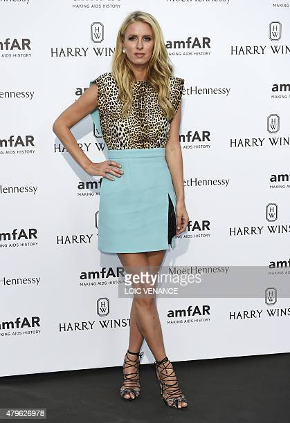 US socialite Nicky Hilton arrives for the amfAR dinner on the sidelines of the Paris fashion week in Paris on July 5 2015 AFP PHOTO / LOIC VENANCE