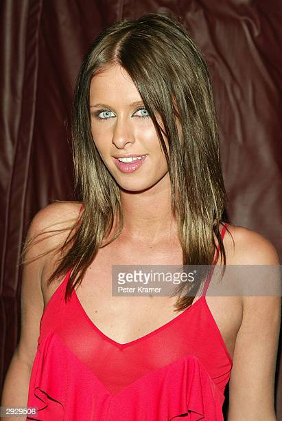 Socialite Nicky Hilton attends a dinner party before the start of the RED Valentino Fall 2004 Fashion Show at Lot 61 February 4 2004 in New York City