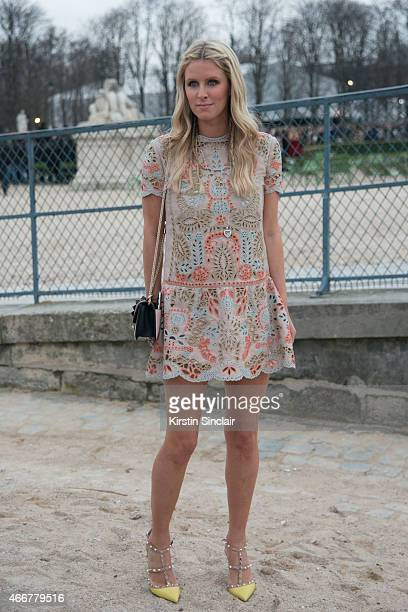 Socialite Nicky Hilton wears Valentino on day 8 of Paris Collections Women on March 10 2015 in Paris France