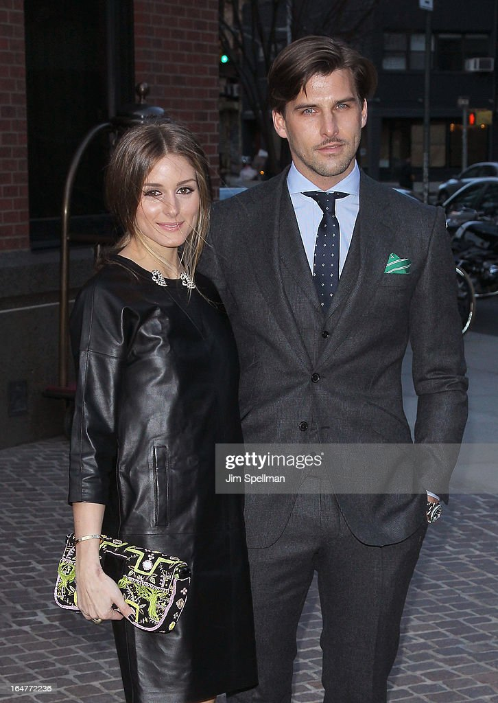 Socialite <a gi-track='captionPersonalityLinkClicked' href=/galleries/search?phrase=Olivia+Palermo&family=editorial&specificpeople=2639086 ng-click='$event.stopPropagation()'>Olivia Palermo</a> and <a gi-track='captionPersonalityLinkClicked' href=/galleries/search?phrase=Johannes+Huebl&family=editorial&specificpeople=5696811 ng-click='$event.stopPropagation()'>Johannes Huebl</a> attend The Cinema Society & Jaeger-LeCoultre screening of Open Road Films' 'The Host' at Tribeca Grand Hotel on March 27, 2013 in New York City.