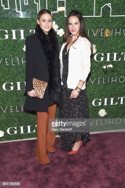 Socialite Olivia Palermo and Livelihood founder Ashley Biden attend the Gilt x Livelihood launch event at Spring Place on February 7 2017 in New York...