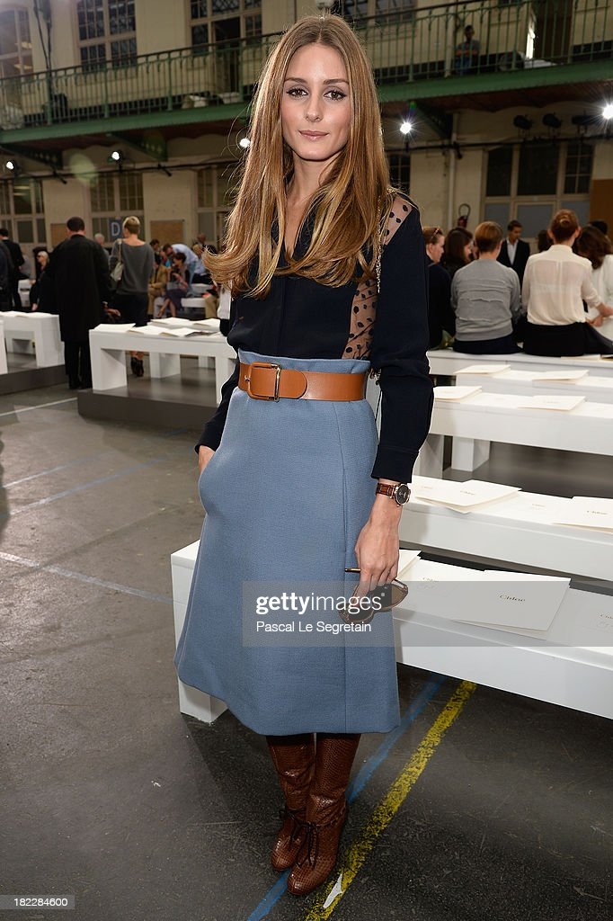 Socialite <a gi-track='captionPersonalityLinkClicked' href=/galleries/search?phrase=Olivia+Palermo&family=editorial&specificpeople=2639086 ng-click='$event.stopPropagation()'>Olivia Palermo</a> attends the Chloe show as part of the Paris Fashion Week Womenswear Spring/Summer 2014 at Lycee Carnot on September 29, 2013 in Paris, France.