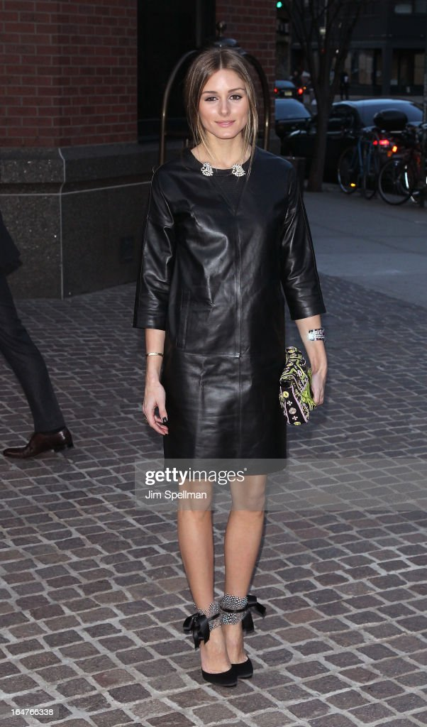 Socialite <a gi-track='captionPersonalityLinkClicked' href=/galleries/search?phrase=Olivia+Palermo&family=editorial&specificpeople=2639086 ng-click='$event.stopPropagation()'>Olivia Palermo</a> attends The Cinema Society & Jaeger-LeCoultre screening of Open Road Films' 'The Host' at Tribeca Grand Hotel on March 27, 2013 in New York City.
