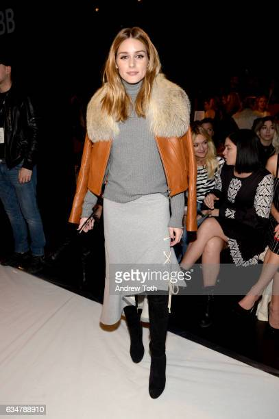 Socialite Olivia Palermo attends the Jonathan Simkhai collection during New York Fashion Week The Shows at Gallery 1 Skylight Clarkson Sq on February...