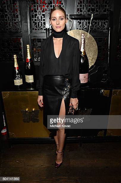 Socialite Olivia Palermo joins Moet Chandon to celebrate 25 Years with the Golden Globes and the Winner of The Moet Moment Film Festival Competition...