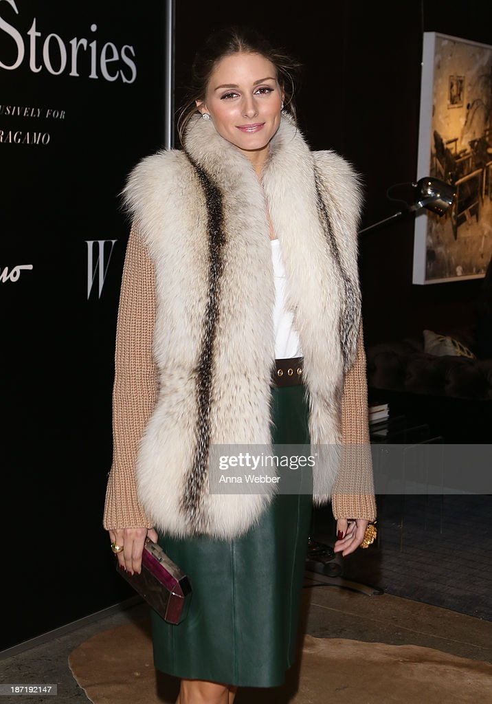 Socialite Olivia Palermo wears Ferragamo Fall/Winter Collection during Ferragamo and Stefano Tonchi Present A VIP Screening of Premier Film Walking Stories on November 6, 2013 in New York City.
