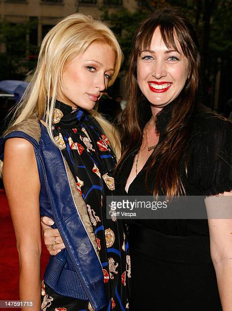 Socialite Paris Hilton and director Adria Petty arrive at the 'Paris Not France' film premiere held at Ryerson Theatre during the 2008 Toronto...