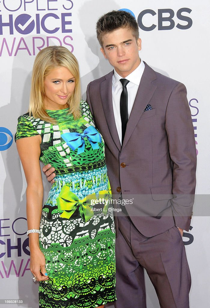 Socialite Paris Hilton and model River Viiperi arrive for the 34th Annual People's Choice Awards - Arrivals held at Nokia Theater at L.A. Live on January 9, 2013 in Los Angeles, California.