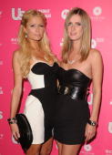 Socialite Paris Hilton and sister Designer Nicky Hilton arrive at the Us Weekly Hot Hollywood Style Issue celebration held at Drai's Hollywood at the...