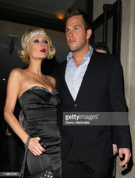 Socialite Paris Hilton and television personality Doug Reinhardt leave her hotel The Mayfair on April 16 2009 in London England