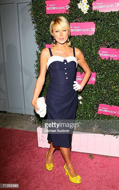 Socialite Paris Hilton arrives at the launch of the TMobile Sidekick 3 at the Hollywood Palladium on June 20 2006 in Los Angeles California
