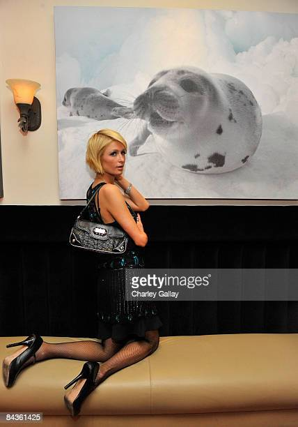 Socialite Paris Hilton attends the Bon Appetit Supper Club 'A Sealed Fate' dinner at Skylodge on January 18 2009 in Park City Utah