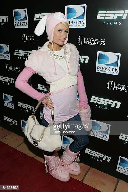 Socialite Paris Hilton attends the Direct TV and ESPN NFL Playoff Viewing Party on January 18th 2009 in Park City Utah