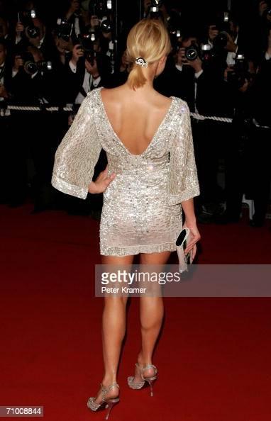 Socialite Paris Hilton attends the 'XMen 3 The Last Stand' premiere at the Palais des Festivals during the 59th International Cannes Film Festival...