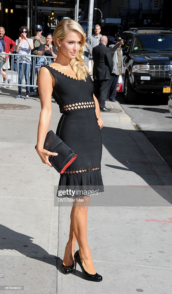 Socialite Paris Hilton is seen on May 2, 2013 in New York City.