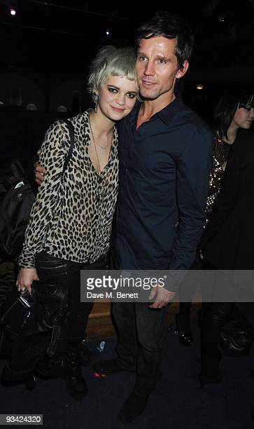 Socialite Pixie Geldof and singer Jason Orange attend the SingStar Take That Extravaganza at the Tabernacle on November 25 2009 in London England