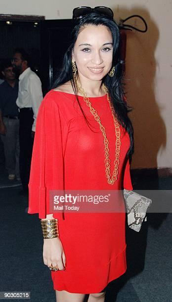 Socialite Sheetal Mafatlal at the Sahachari Foundation's Design One event at the World Trade Center in Mumbai on Tuesday September 1 2009
