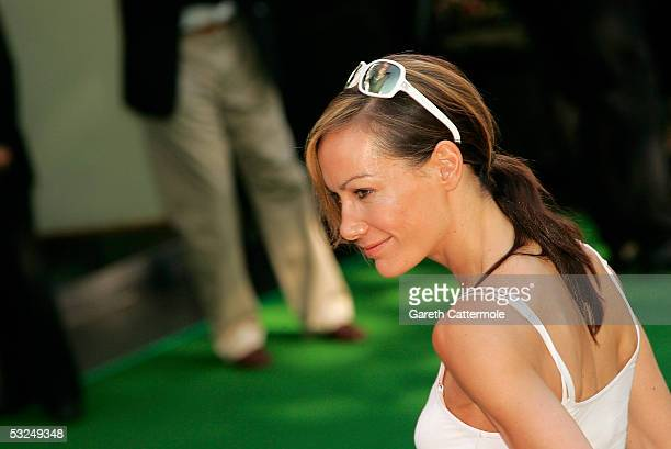 Socialite Tara PalmerTomkinson arrives at the UK Premiere of 'Charlie And The Chocolate Factory' at the Odeon Leicester Square on July 17 2005 in...