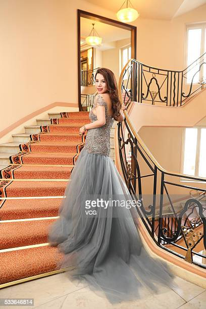 Socialite Wendy Yu attends the closing ceremony of 69th Cannes Film Festival on May 22 2016 in Cannes France