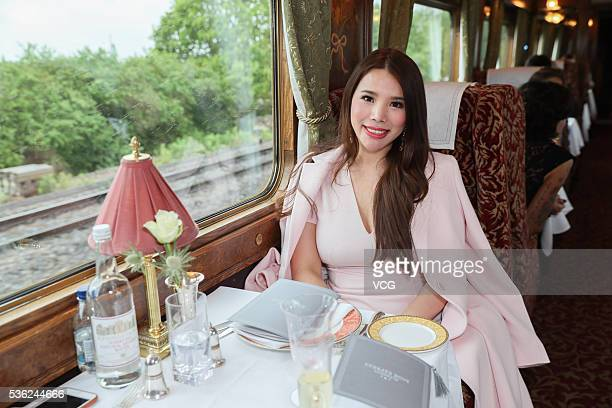 Socialite Wendy Yu get prepared for the Christian Dior spring/summer 2017 cruise collection at Blenheim Palace on May 31 2016 in Woodstock England