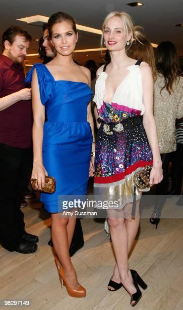 Socialites Dasha Zhukova and Lauren Santo Domingo attend the Book Party for Derek Blasberg's 'Classy' at Barneys New York on April 6 2010 in New York...
