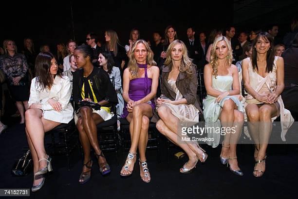 Socialites Julia Restoin Roitfeld Genevieve Jones Valesca Guerrand Hermes Lauren Davis Tinsley Mortimer and Zani Gugelmann attend the Dior 2008...
