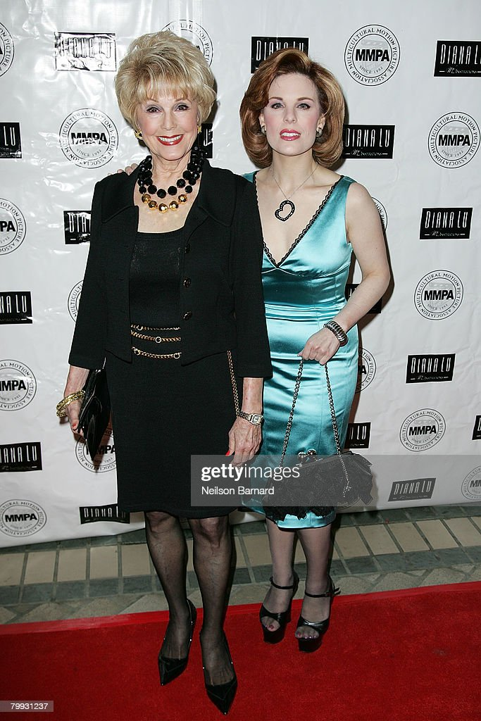 Socialites Kat Kramer (R) and mother Karen Sharpe Kramer attend the MMPA's Annual Oscar Week Luncheon at The Four Seasons Hotel February 22, 2008 in Los Angeles, California.