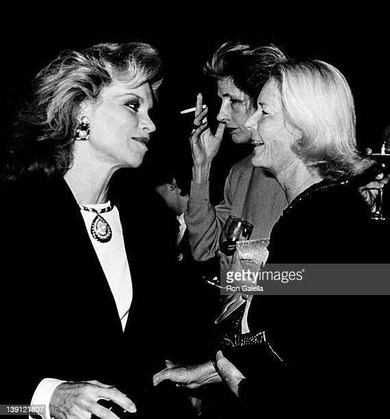 Socialites Lynn Wyatt Nancy Kissinger and CZ Guest attend Fete de Famille III Benefit on September 27 1988 at Mortimer's Restaurant in New York City