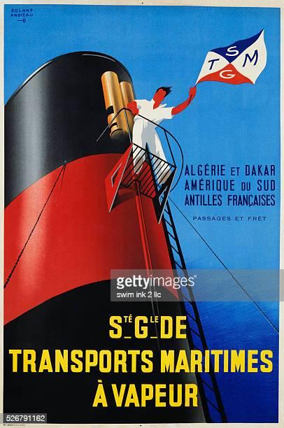 Societe Generale de Transports Maritimes a Vapeur Poster by Roland Ansieau